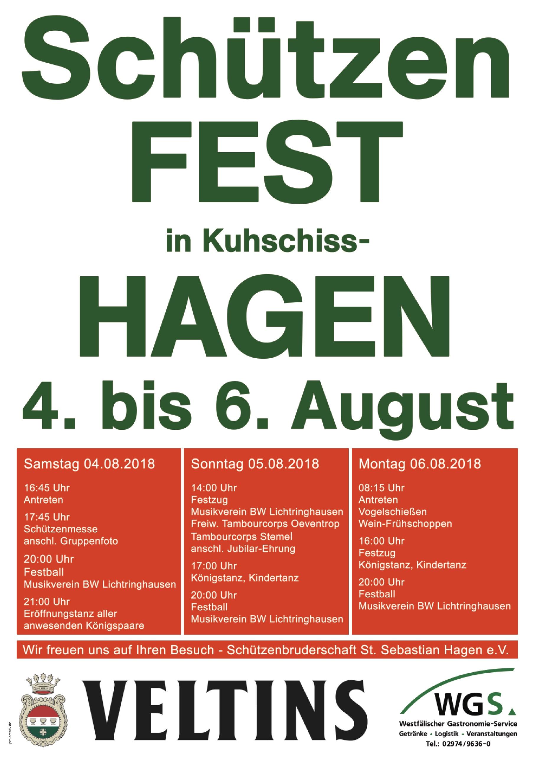 Vorbericht Schützenfest Am 04. Bis 06 August 2018