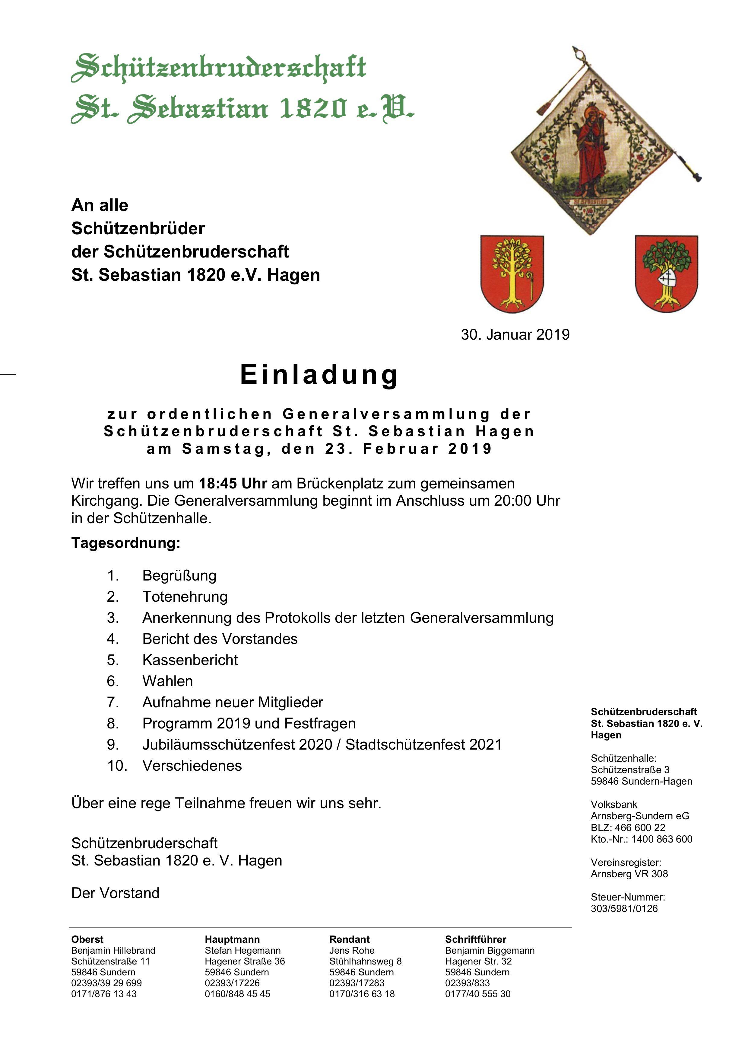 Generalversammlung 2019