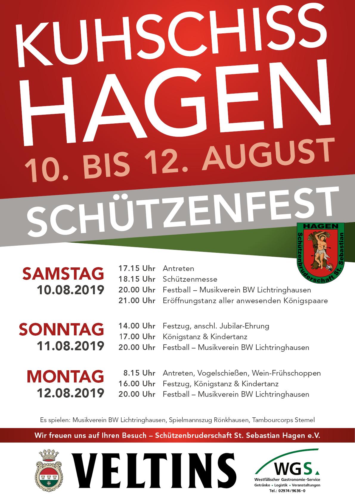 Vorbericht Schützenfest Am 10. Bis 12 August 2019